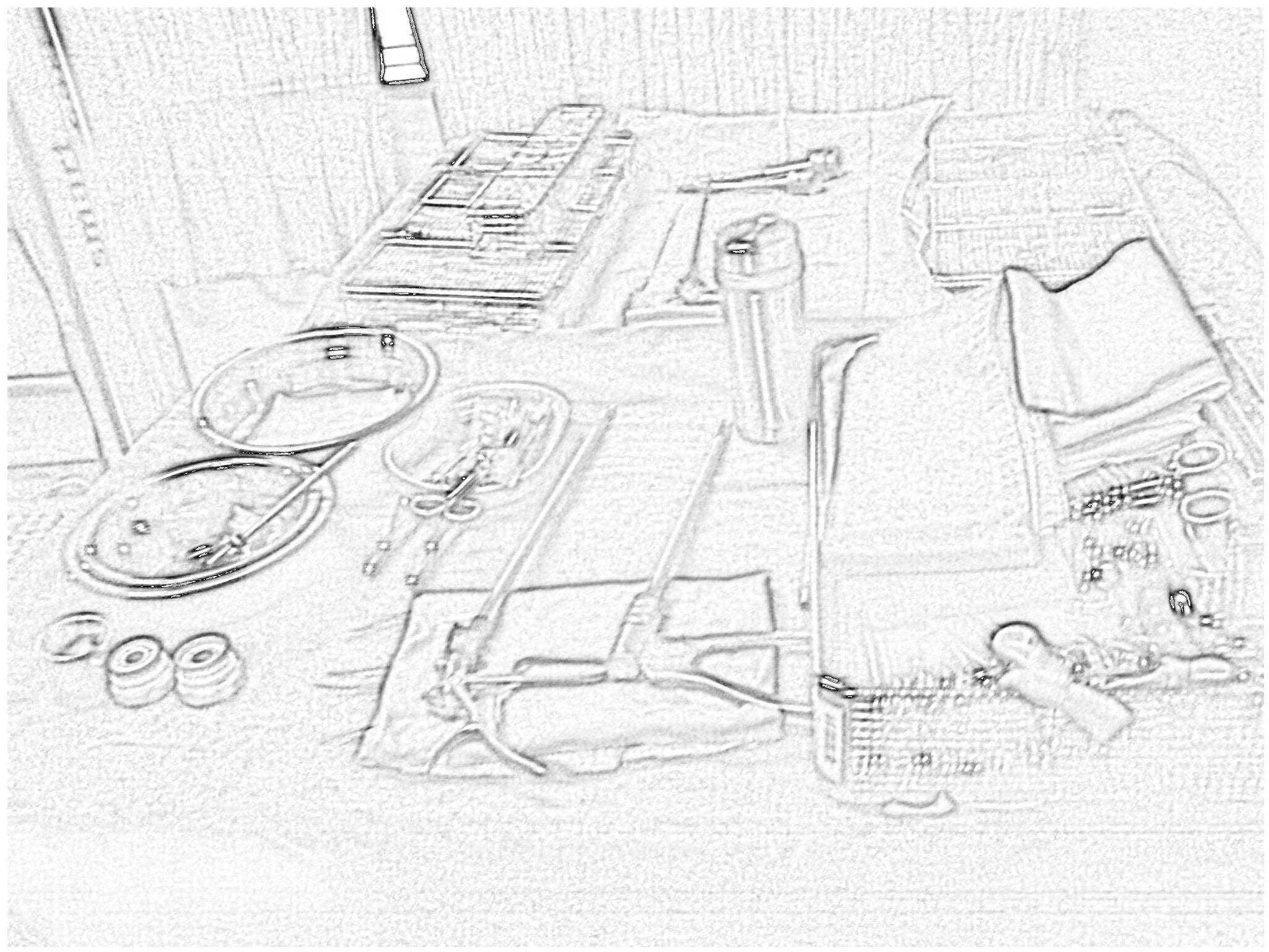 2012年手术室胃肠专科护士手绘手术台面标准化布局图